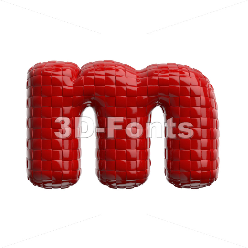 plastic patterned 3d font M - Lowercase 3d letter - 3D Fonts Collections | Top Quality Letters, Numbers and Symbols !