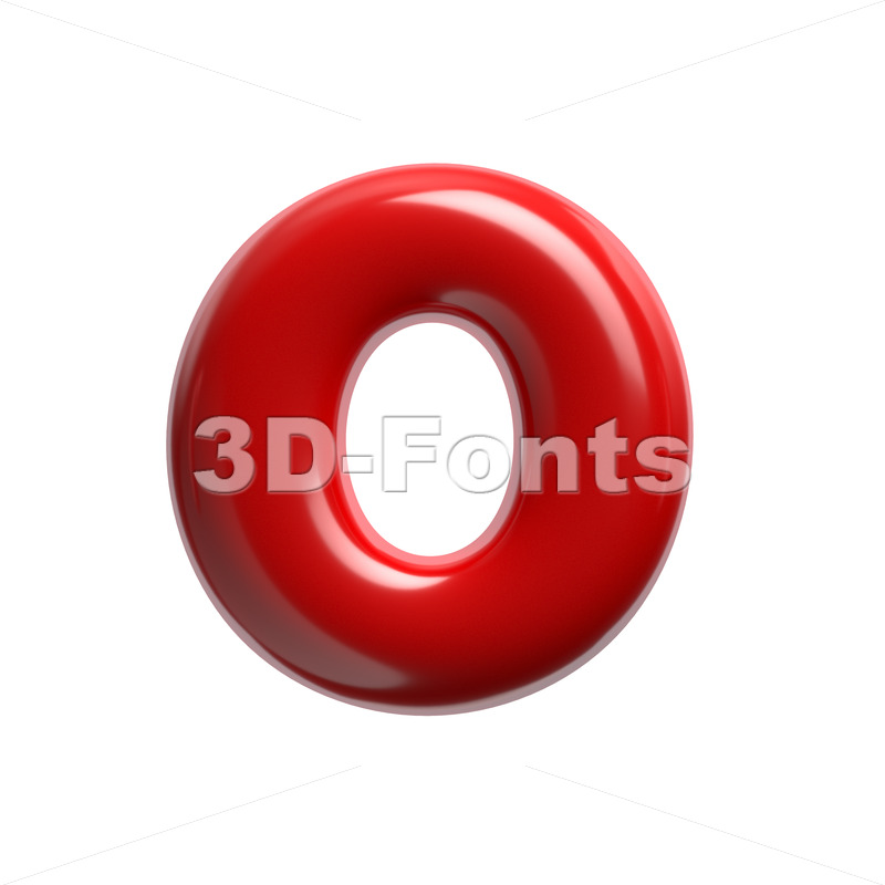 3d glossy Upper-case letter O - Large 3d font - 3D Fonts Collections | Top Quality Letters, Numbers and Symbols !