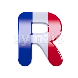 french letter R - Uppercase 3d font Stock Photo