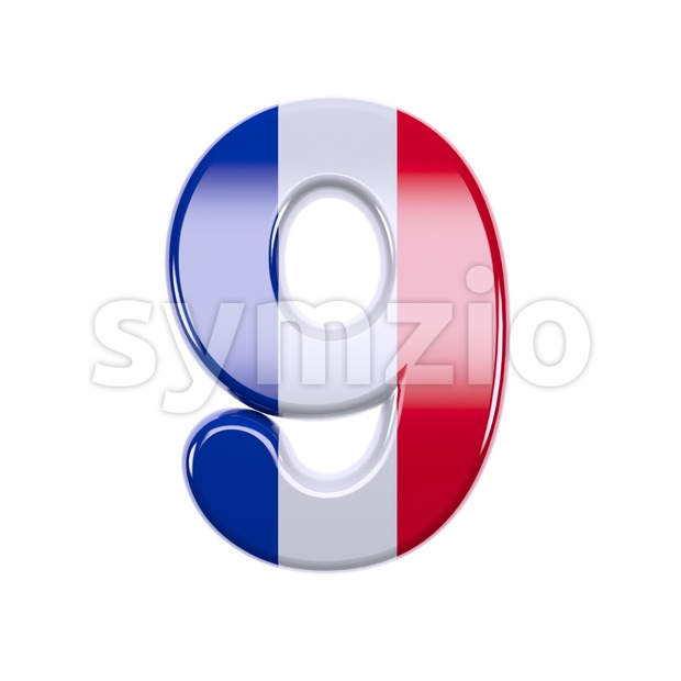 French flag number 9