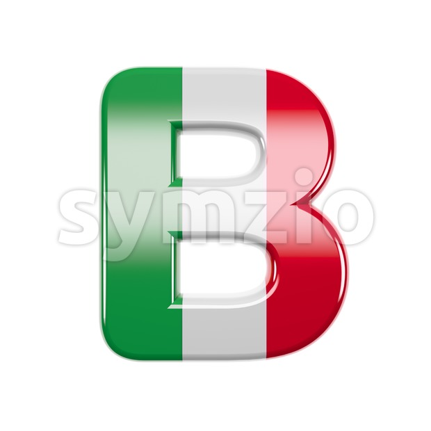 Capital italy flag colors letter B