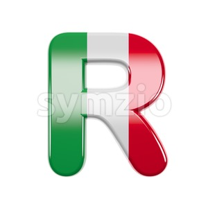 italian letter R - Uppercase 3d font Stock Photo