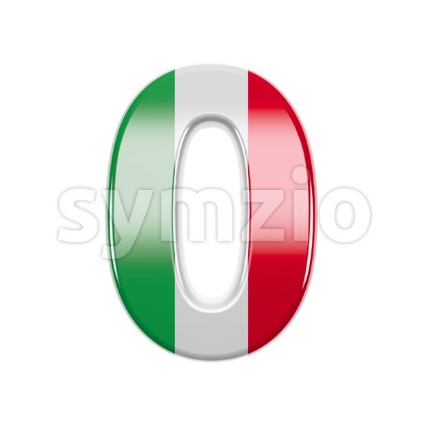Italian flag number 0