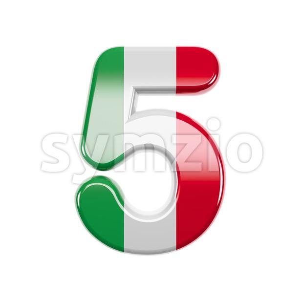 Italian flag number 5