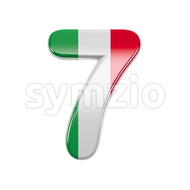 Italian flag number 7