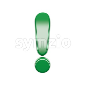 Italian flag exclamation point - 3d symbol Stock Photo