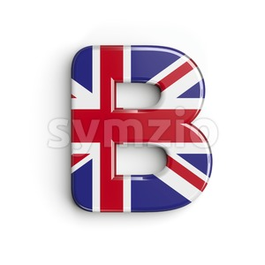 Capital british letter B - Upper-case 3d font Stock Photo