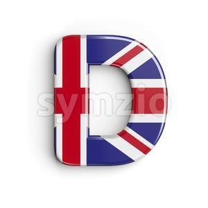 Union font D - Capital 3d character Stock Photo