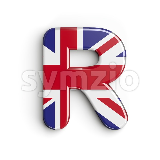 Union letter R - Uppercase 3d font Stock Photo