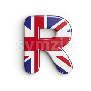 Union letter R - Uppercase 3d font Stock Photo