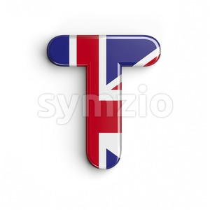 british character T - Uppercase 3d letter Stock Photo
