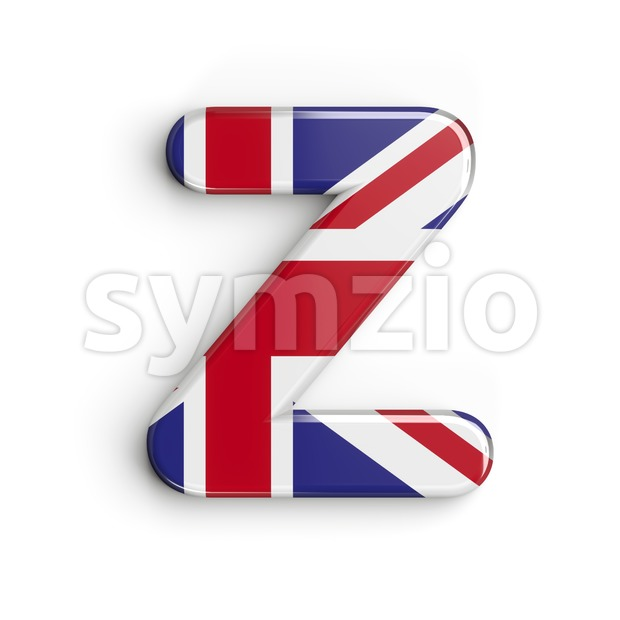 Union letter Z - Upper-case 3d font Stock Photo