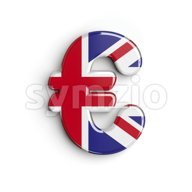 Union Jack euro currency sign
