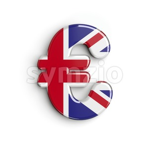 Union Jack euro currency sign - 3d business symbol Stock Photo