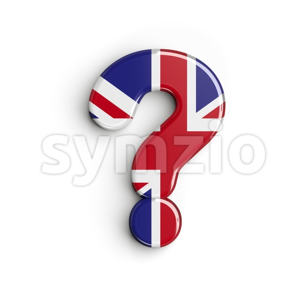 Union Jack interrogation point - 3d sign Stock Photo