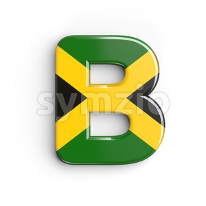 Capital jamaica letter B - Upper-case 3d font Stock Photo
