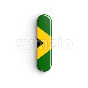 Uppercase jamaican flag font I - Capital 3d letter Stock Photo