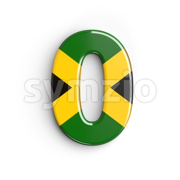 jamaica number 0 - 3d digit Stock Photo