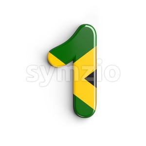 jamaica number 1 - 3d digit Stock Photo