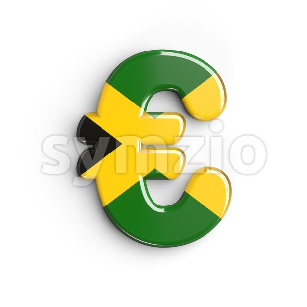 jamaica euro currency sign - 3d business symbol Stock Photo