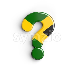 jamaica interrogation point - 3d sign Stock Photo