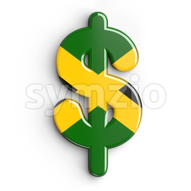 jamaica dollar currency sign - 3d money symbol Stock Photo