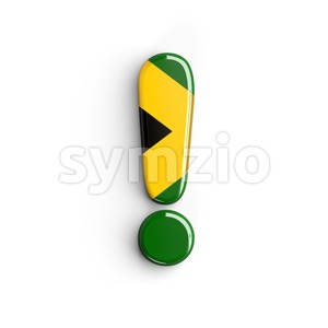 jamaica exclamation point - 3d symbol Stock Photo