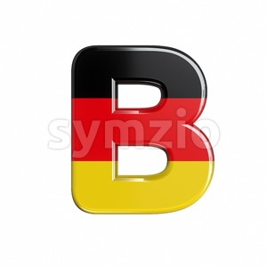 Capital german letter B - Upper-case 3d font Stock Photo