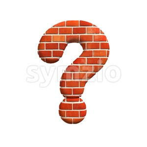 Brick interrogation point - 3d sign Stock Photo