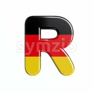 Germany letter R - Uppercase 3d font Stock Photo