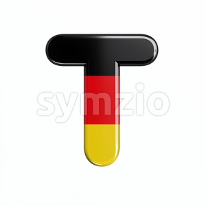 german character T - Uppercase 3d letter Stock Photo