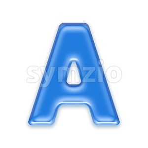 blue jelly letter A - Capital 3d character Stock Photo