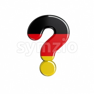 German interrogation point - 3d sign Stock Photo