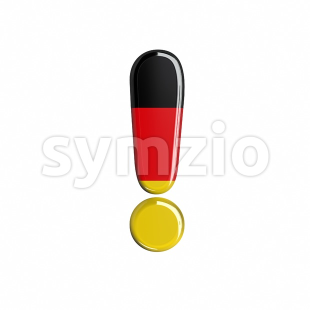 German exclamation point - 3d symbol Stock Photo