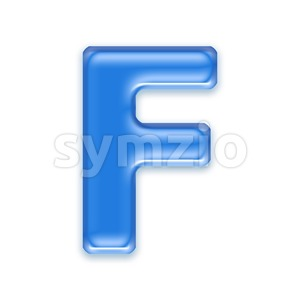 blue jelly letter F - Upper-case 3d font Stock Photo