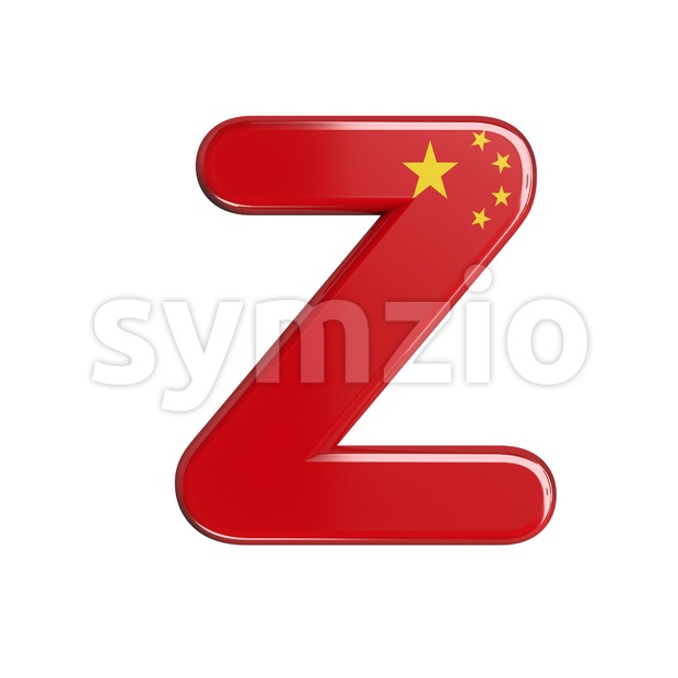 China letter Z - Upper-case 3d font Stock Photo