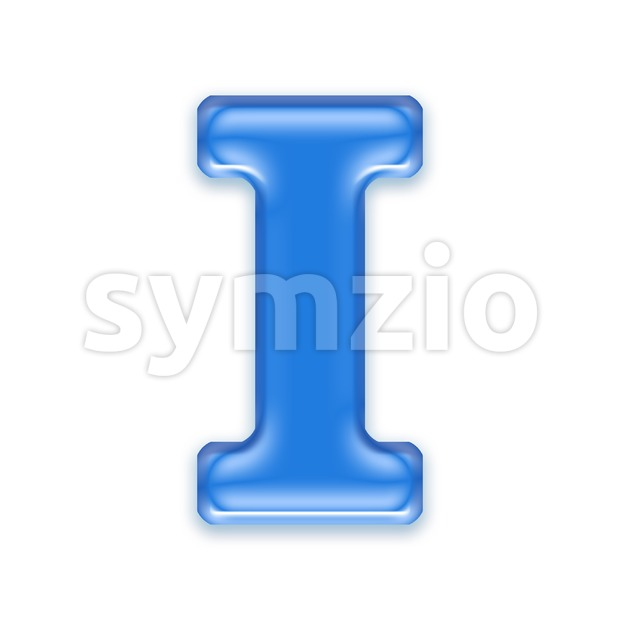 Uppercase jelly font I - Capital 3d letter Stock Photo