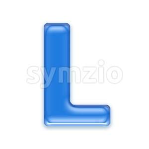 jelly 3d font L - Capital 3d character Stock Photo