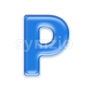 Upper-case jelly character P - Capital 3d font Stock Photo