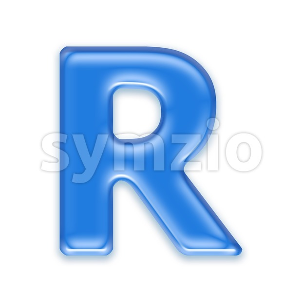 jelly letter R - Uppercase 3d font Stock Photo