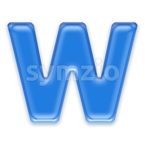 transluscent font W - Capital 3d letter Stock Photo