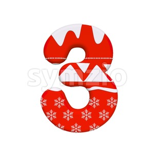 christmas number 3 - 3d digit Stock Photo
