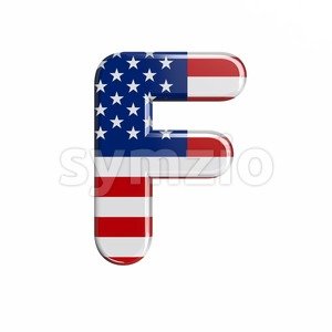 USA letter F - Upper-case 3d font Stock Photo