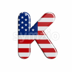 Uppercase USA letter K - Capital 3d font Stock Photo