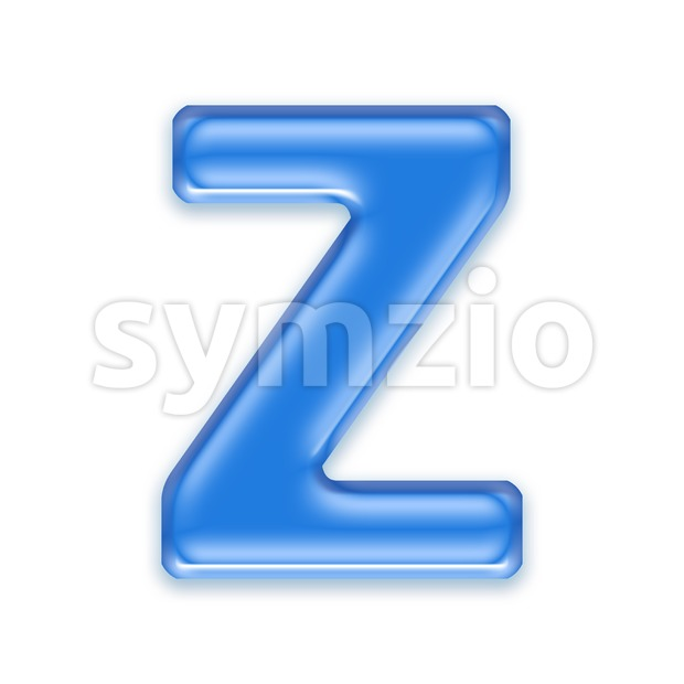 jelly letter Z - Upper-case 3d font Stock Photo