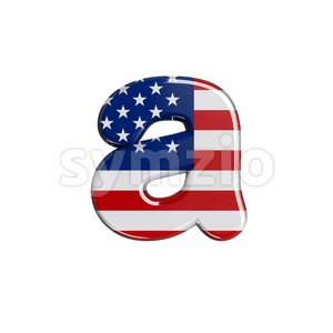 USA font A - Lowercase 3d letter Stock Photo