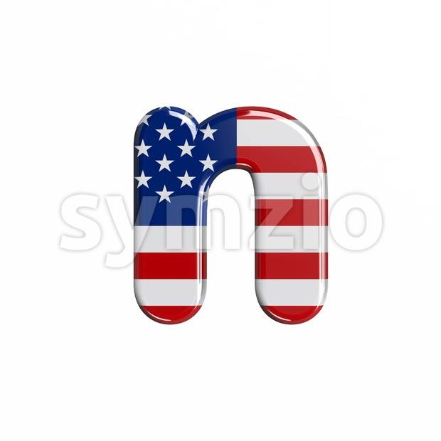 Lower-case USA letter N