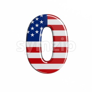 american number 0 - 3d digit Stock Photo
