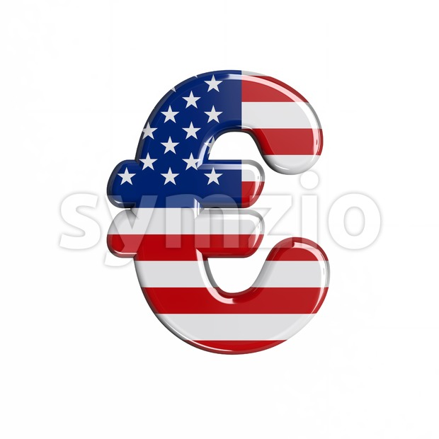 american euro currency sign - 3d business symbol Stock Photo