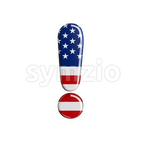 american exclamation point - 3d symbol Stock Photo
